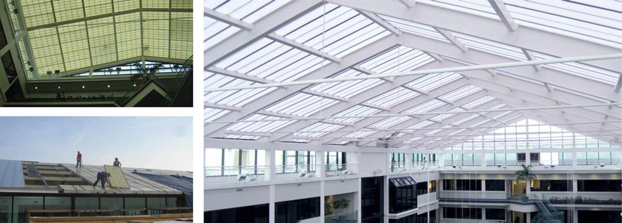 SAS Institute Failed Fiberglass Skylight
