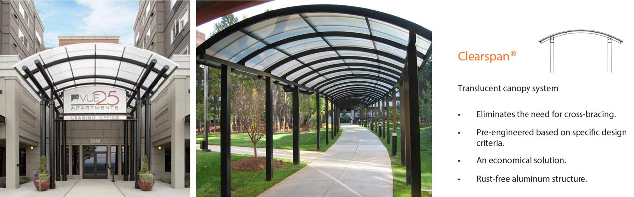 D2F Clearspan Canopies and Walkways