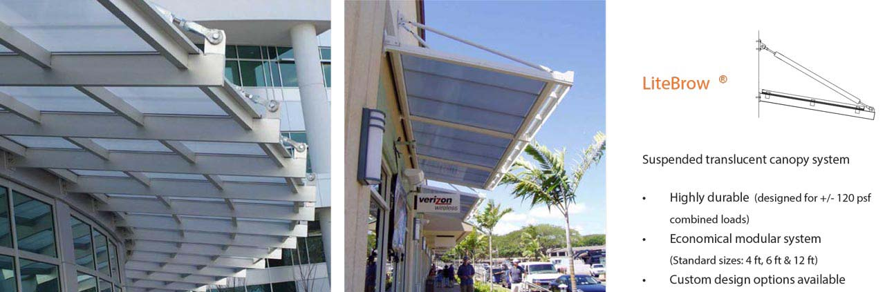 D2F LiteBrow Suspended Translucent Canopies
