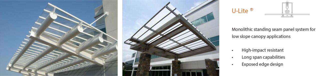 U-Lite Low Slope Canopies & U-LITE Low Slope Transparent Canopies · Commercial Skylights
