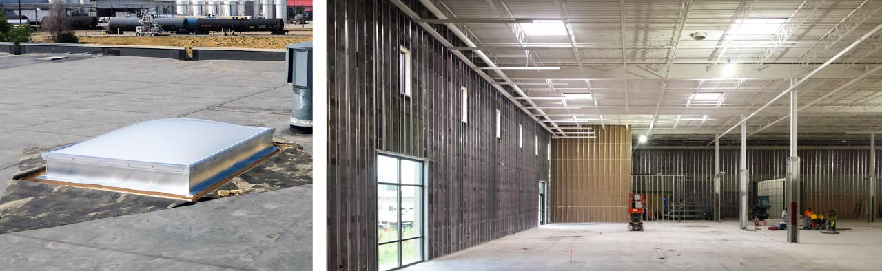 Furniture Row Warehouse Unit Skylights