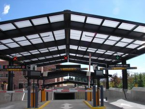 Colorado University's Center for Community at Boulder Parking Entrance Skylight Structure is Complete.