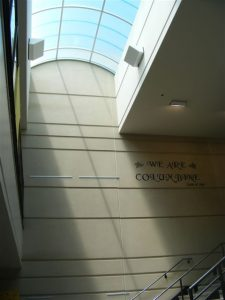 Interior view of a skylight at Columbine HS in Littleton, CO
