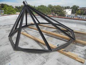 This steel skylight frame was custom designed and built by an innovative restaurant entrepreneur in the Denver, CO area.