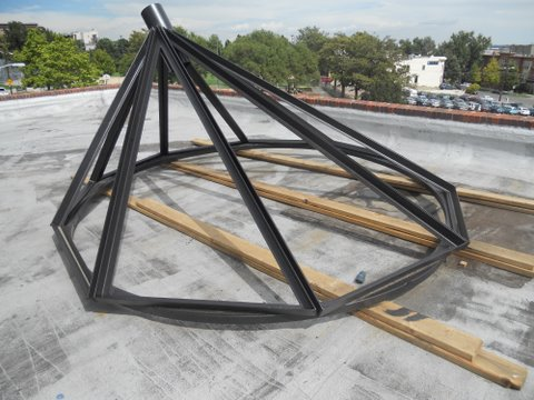 This steel skylight frame was custom designed and built by an innovative restaurant entrepreneur in the Denver, CO area.
