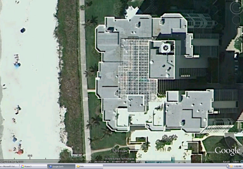 Satellite Image of Monumental Skylight after replacement.