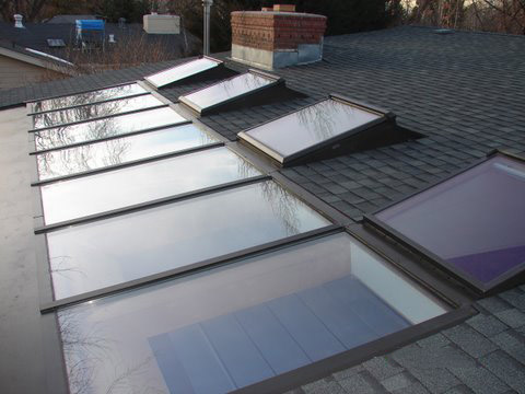 Another view of the MAGS BAR system skylight after the project is completed.