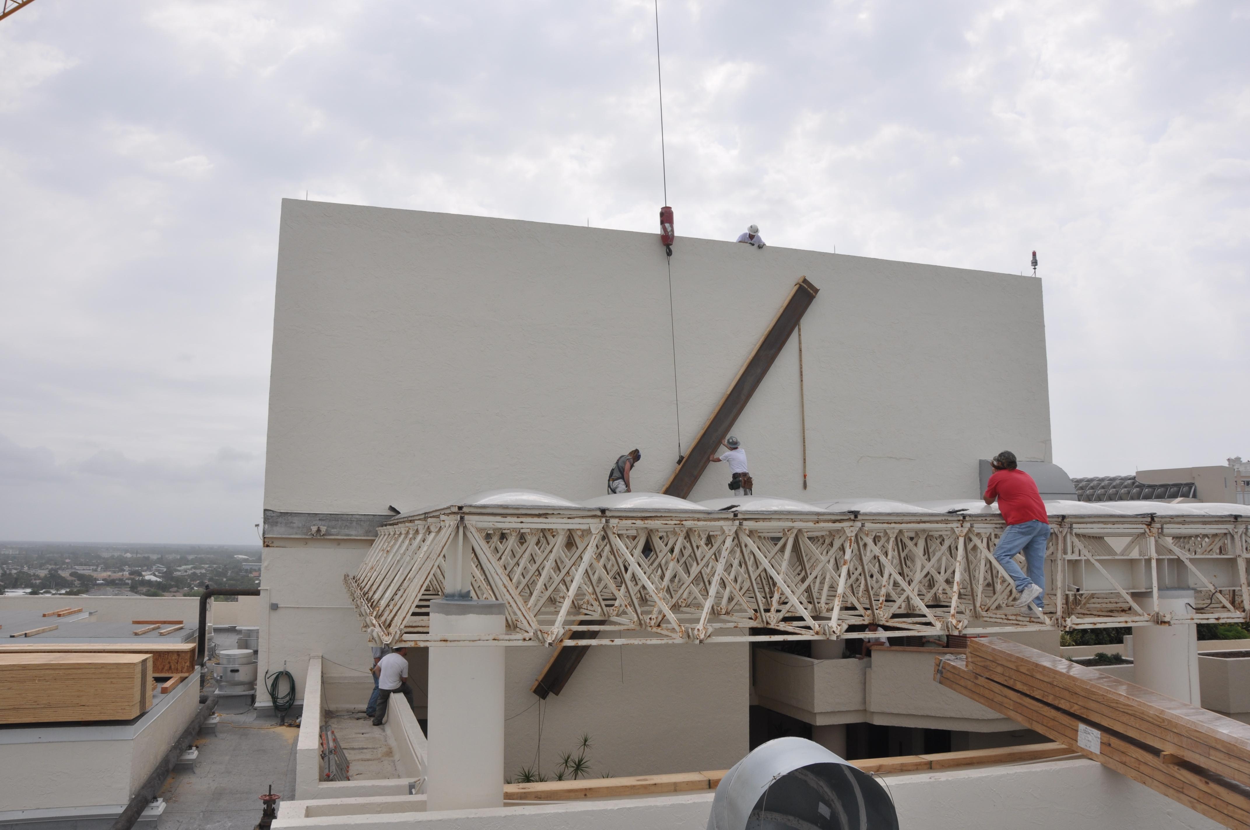 Scaffolding Solutions Under Skylights