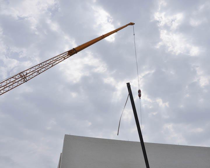 La Mer skylight and crane.