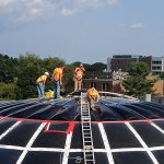 Bryant University MAGS BAR Dome Skylight Retrofit Is Underway!