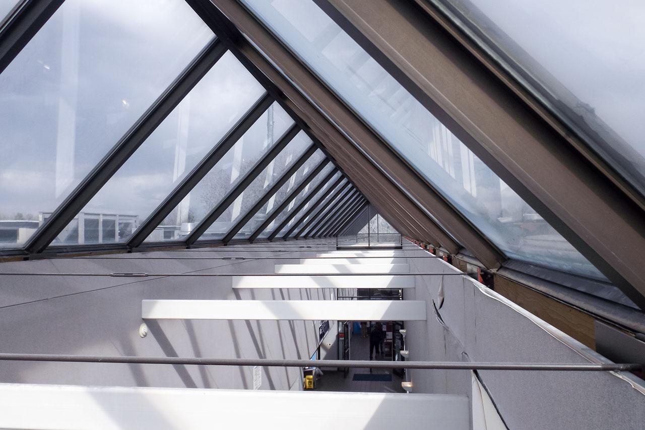 Montclair us post office skylight repair wet seal for Large skylight