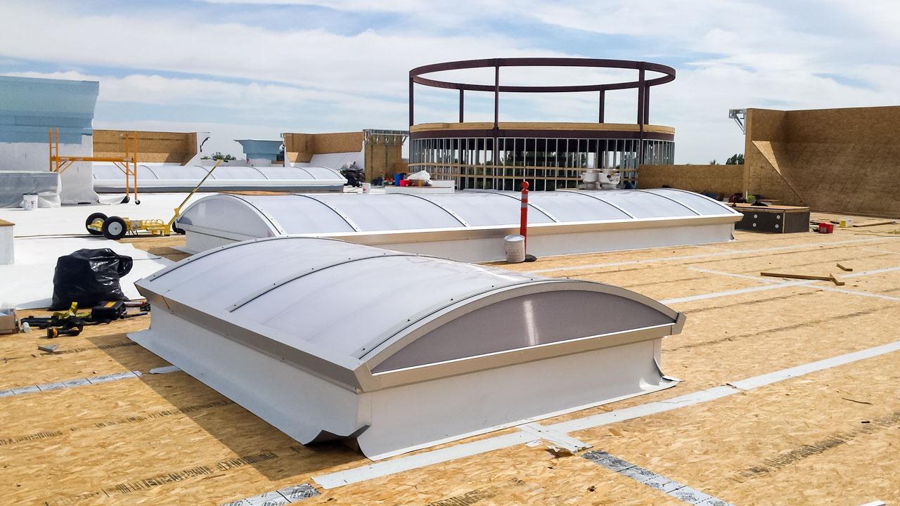 Barrel Vault Skylight Installation Cla Thornton Co