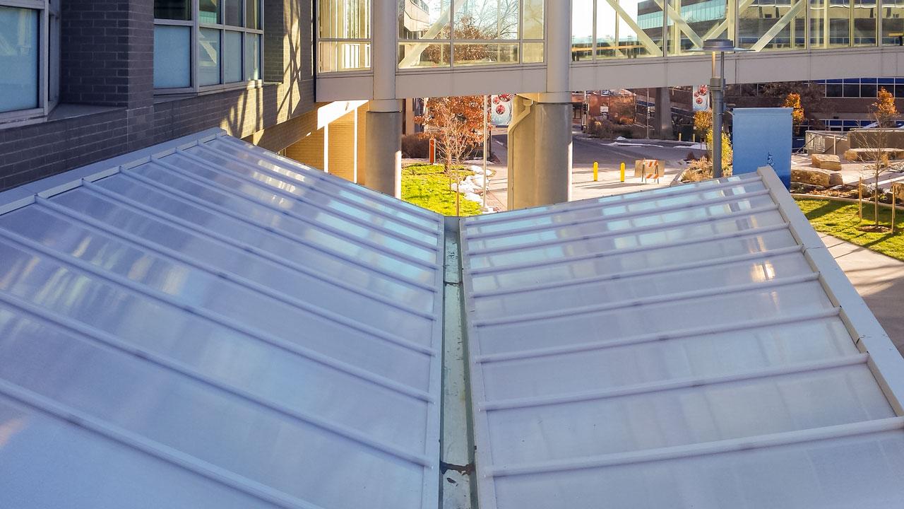 New Translucent Entrance Canopy Craig Hospital East