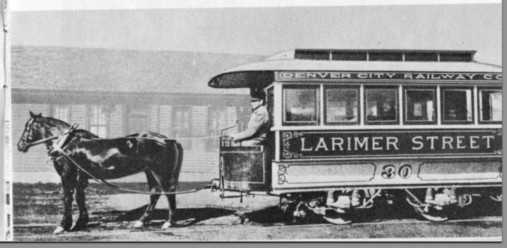 Denver Railway Co. Horse and Car