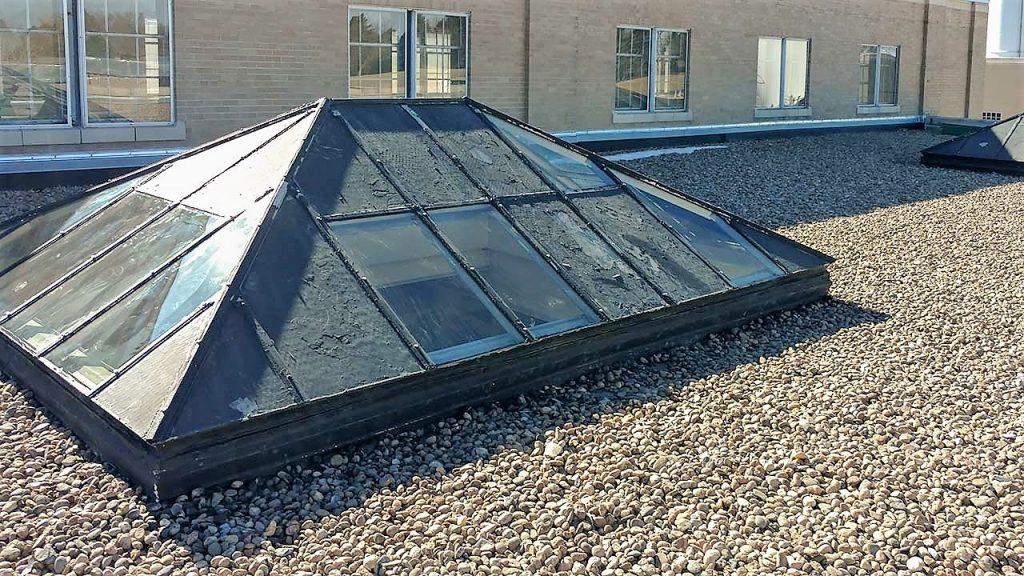 glass pyramid skylights 26107 102717 4