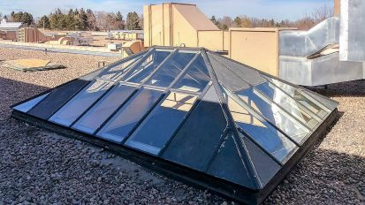 Pyramid Skylights Glass Replacement | Denver Water Moffat Plant
