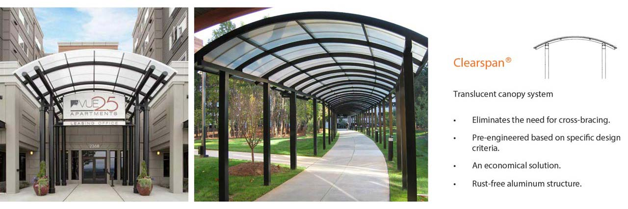 page header clearspan walkway