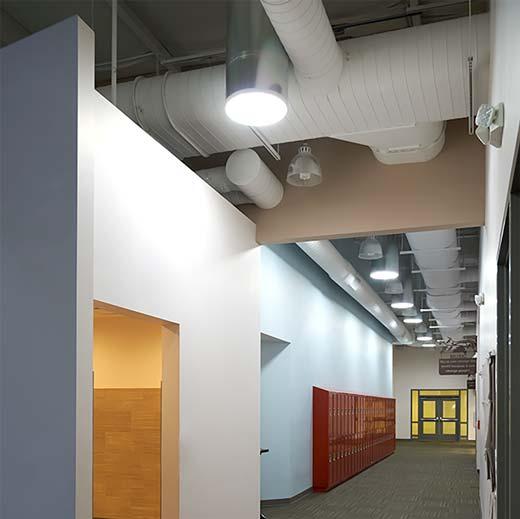 Open ceiling