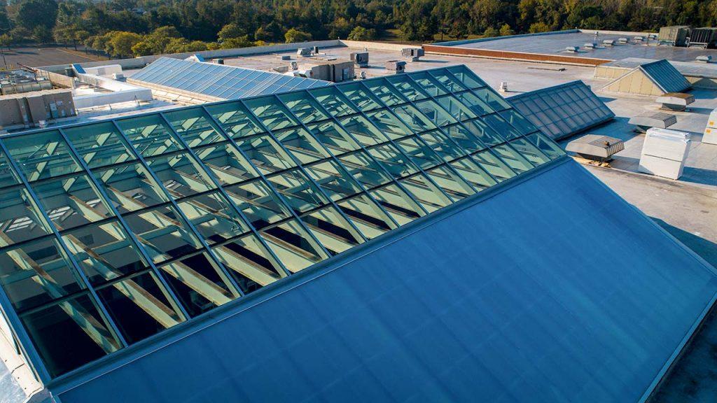 Quaker Bridge Mall atrium skylight 24602-52