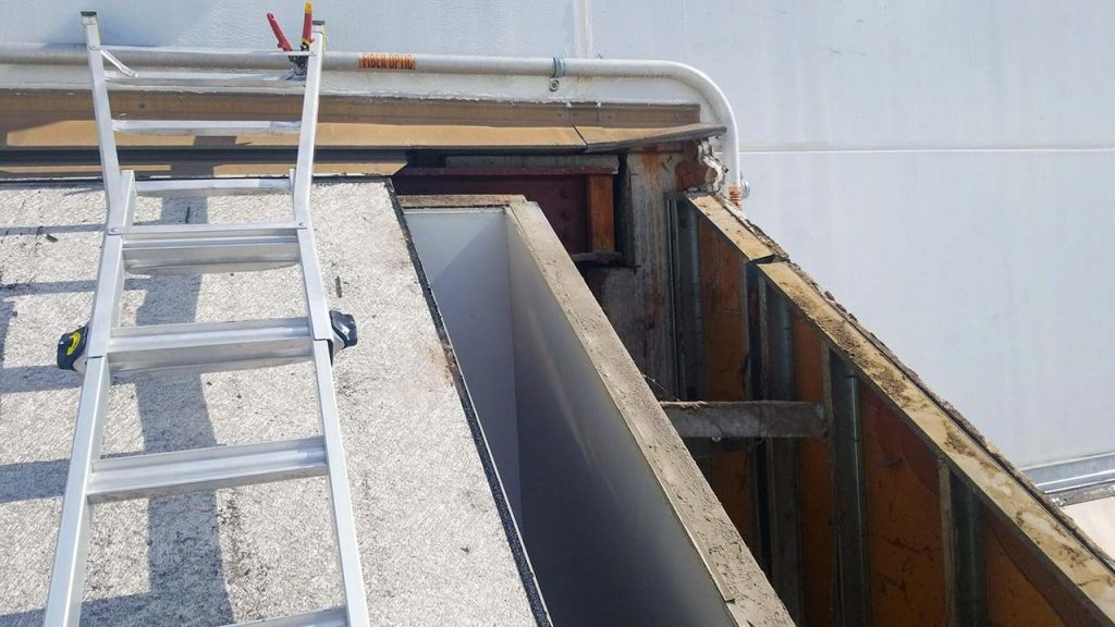 replace Proctor Gamble failed fiberglass skylight 30019-2